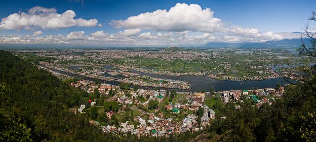 Aerial view kashmir