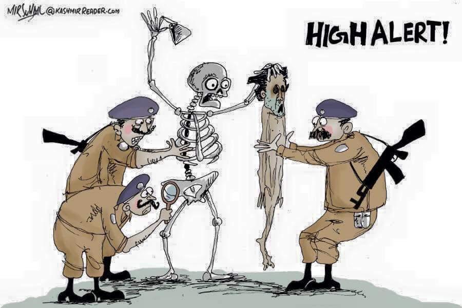 High alert Kashmir