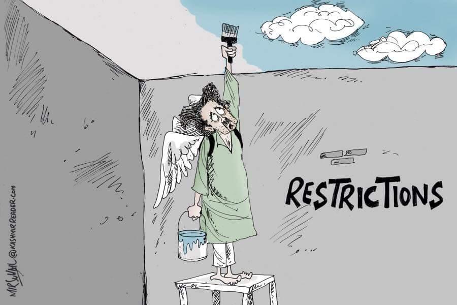 republic day kashmir restriction